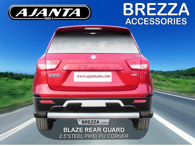 MARUTI-BREZZA-REAR-GUARD-STEEL-PIPE-BACK-GUARD-BLAZE-BACK-GUARD-AJANTA-MFG-MUMBA