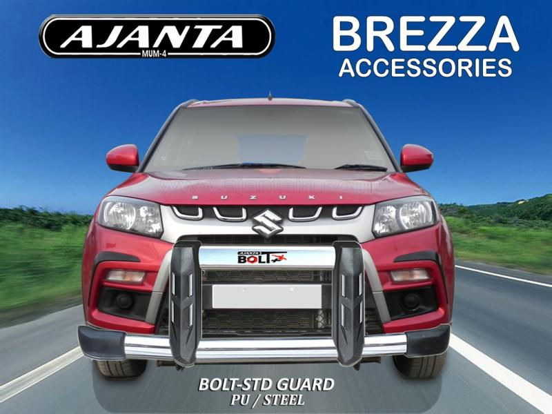 BREZZA FRONT GUARD-BOLT STD POLYURATHANE STEEL GUARD AJANTA-GUARDS-MANUFACTURE.