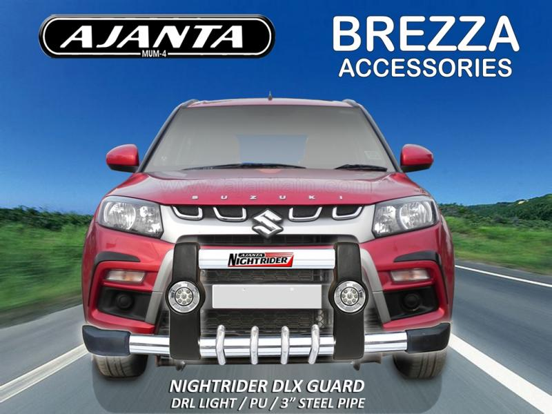 MARUTI-BREZZA GUARD-NIGHTRIDER DLX PU GUARD POLYURETHANE-STEEL-DRL-LIGHT-AJANTA