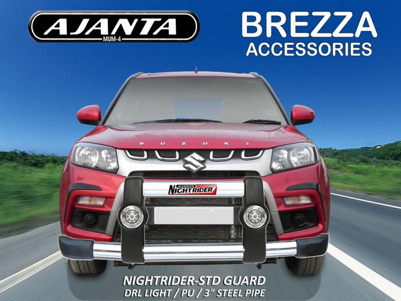 MARUTI-VITARA-BREZZA NIGHTRIDER STD GUARD POLYURETHANE-STEEL-DRL-LIGHT-MFG-GUARD
