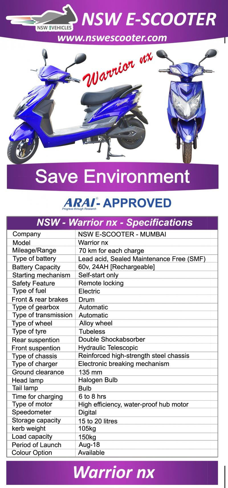 Ajanta Enterprise Nswe Scooter Electric Scooter The