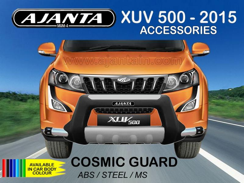 FRONT GUARD COSMIC ABS-STEEL BUMPER GUARD FOR NEW XUV 500 W10 AJANTA SAFTY GUARD