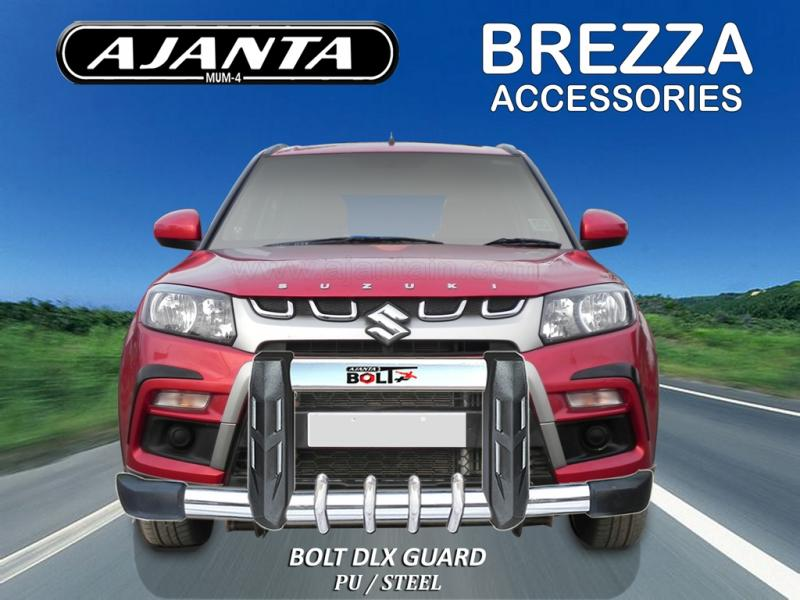 FRONT GUARD FOR MARUTI BREZZA BOLT DLX POLYURATHANE WITH STEEL GUARD AJANTA GUAR