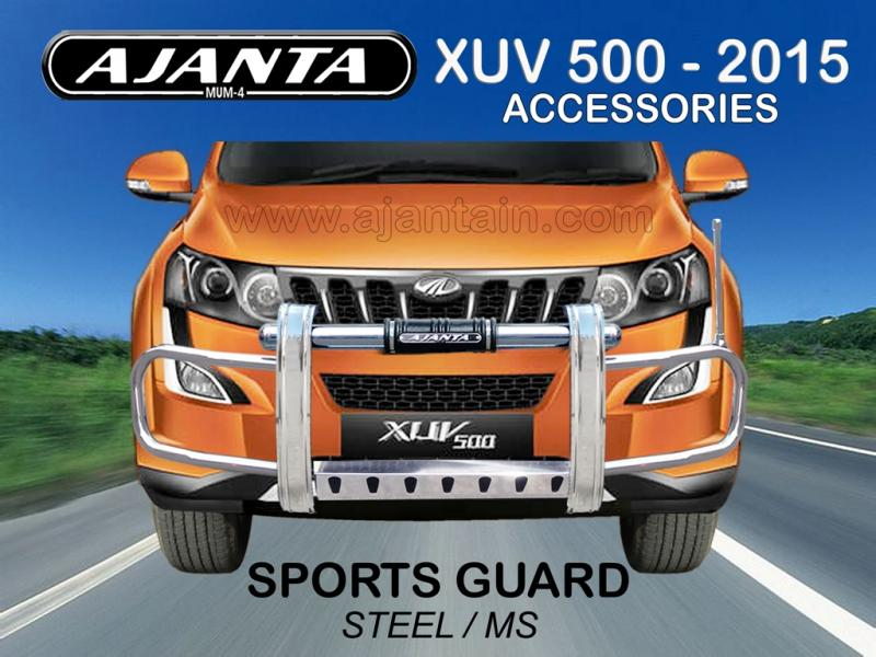 FRONT SPORTS GUARD SS-MS FOR NEW XUV 500 2015. XUV 500 ACCESSORIES ROOF RACKS.