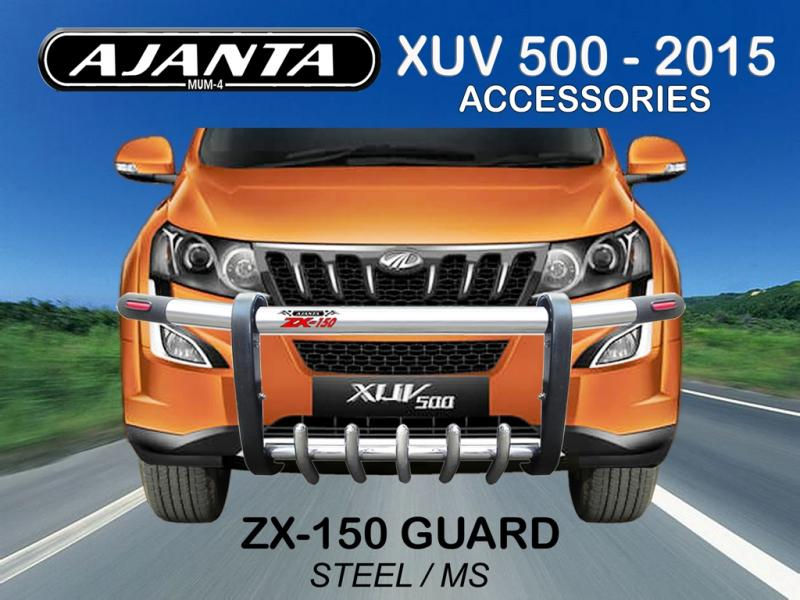 LATEST FRONT GUARD 2015 FOR XUV 500. ZX-150 NEW XUV 500 W10 ACCESSORIES-AJANTA