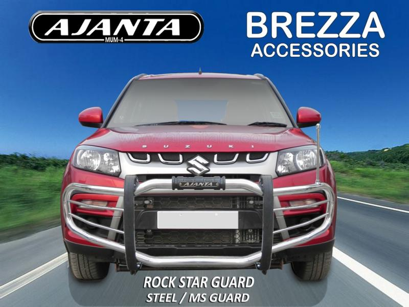 MARUTI-BREZZA-FRONT-GUARD-ROCK STAR GUARD AJANTA GUARD MANUFACTURE-INDIA-MUMBAI.