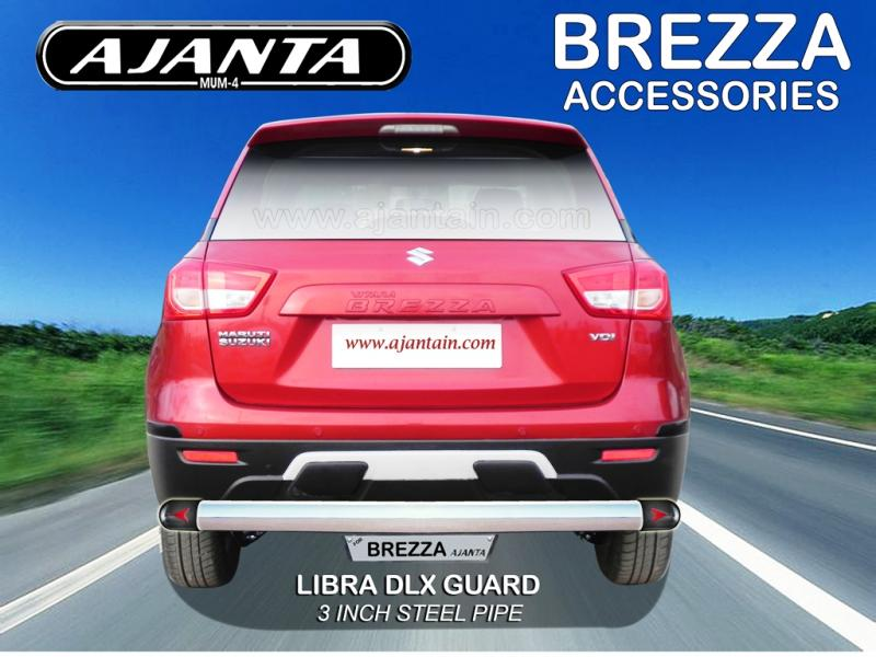 NEW-REAR-STEEL-PIPE-BACK-GUARD-FOR-MARUTI-BREZZA-LIBRA-DLX-REAR GUARD-AJANTA.NEW