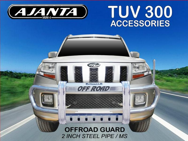 TUV300 FRONT GUARD, OFFROAD GUARD, MADE FROM 2 INCH STEEL PIPE, AJANTA tuv GUARD