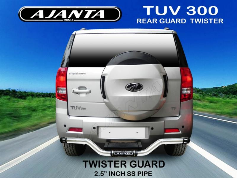 MAHINDRA TUV300 ACCESSORIES REAR GUARD TWISTER. AJANTA TUV300 ACCESSORIES-AJANTA
