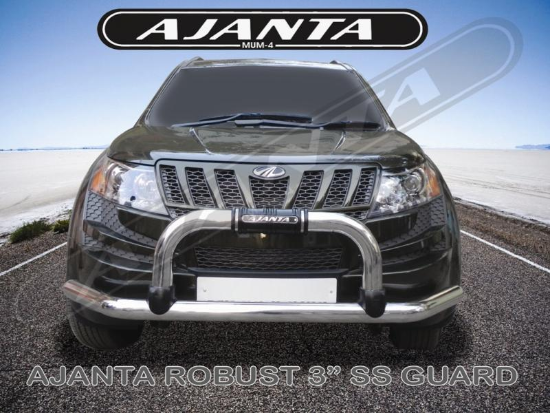 XUV_FRONT_GUARD-3 INCH STEEL-SAFTY-GUARD-BUMPER GUARD-STEEL-PROTCTION-AJANTA-