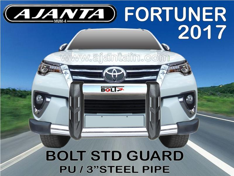toyota frortuner front guard-latest fortuner front view bumper guard-ajantain.